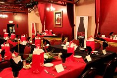 Coca-Cola party in the Henry Strater Theatre at the Strater Hotel in Durango, Colorado.  #Durango #Catering #Coke