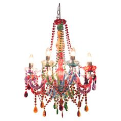 Colorful chandeliermulti color chandelier dream home pinterest circus multi coloured 8 arm chandelier from alexander and pearl aloadofball Image collections