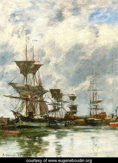 Eugene Boudin, Trouville, the Port V