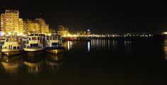 Tulcea by night - City Danube by nancydev