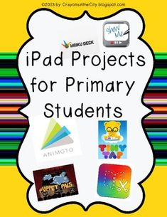 for bulletin boards and posters iPad Projects for Primary Students- graphic organizers {The Organized Housewife} 20 Days. Teaching Technology, Educational Technology, Teaching Resources, Educational Games, Book Creator, Instructional Technology, Thing 1, Graphic Organizers, In Kindergarten