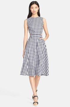 Tanya+Taylor+'Monica'+Gingham+Fit+&+Flare+Dress+available+at+#Nordstrom