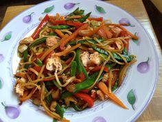 Teriyaki salmon noodle salad