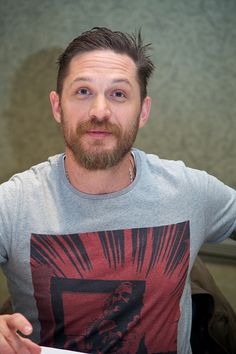 Tom Hardy at the 'Legend' Press Conference at the Park Hyatt on September 13, 2015 in Toronto | Credit: Vera Anderson