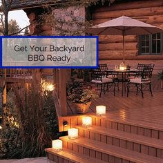 Here are a few simple suggestions to make your backyard the go-to spot for summer barbecues that last late into the night.