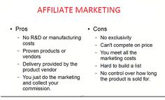 I've encountered many new enthusiastic online newbies who are interested in making some extra cash on the internet, but have little idea what is involved in affiliate marketing. This video provides a succinct yet fairly comprehensive introduction to affiliate marketing that examines the basics as well as the pros and cons.