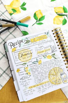 The Keepsake Kitchen Diary recipe spread. A DIY heirloom cookbook to keep your family recipes together. A Keepsake Kitchen Diary recipe spread by Valerie McKeehan - preserved lemons. The Kitchen Diary is a DIY cookbook with room to write memories. Bullet Journal Meal Plan, Bullet Journal Project Planning, Homemade Recipe Books, Diy Recipe Book, Homemade Cookbook, Family Recipe Book, Recipe Book Templates, Cookbook Template, Printable Recipe Cards