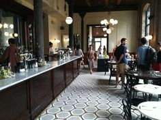 Great design, great brasserie food. First floor of the Wythe.