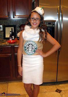 DIY Costume Ideas for Girls - Starbucks Vanilla Latte Costume