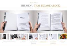 Emiliano Hotel & Restaurant - The Menu that became a book. /copywriter/ creative director