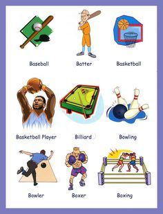 images of sports | Sports Vocabulary With Pictures