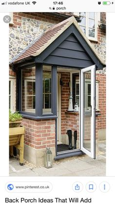 Front porch extension ideasFront porch extension Awesome Oak Front Door So Your House Looks Simple But Awesome Oak Front Door So Your House Looks Simple But Beautiful homedecorideas doordecorations homedesignonabudgetTHIS Is the Right Porch Uk, Front Door Porch, Cottage Porch, Front Porch Design, House With Porch, Door Entry, Porch On Bungalow, Porch Doors Uk, Front Door Canopy