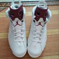 "「Can't wait! ""Maroon"" Air Jordan 6's this year (via @soleudecide)」"
