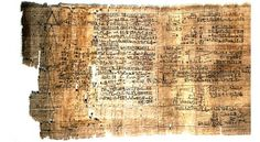 Rhind Mathematical Papyrus. This document is one of the main sources of our knowledge of Egyptian mathematics. It dates from around 1650 BC, but the scribe Ahmes states that he copied it from an earlier document dating from the XII-th dynasty - around 1800 BC. It begins as follows:
