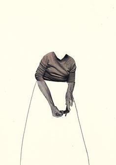 Susanne Breuss : Handwerk (1)  handmade collage + pencil, 2013, 29,6 x 21 cm