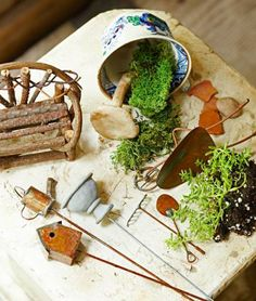How to create a magical miniature garden: http://www.midwestliving.com/garden/container/miniature-garden/?page=1,0