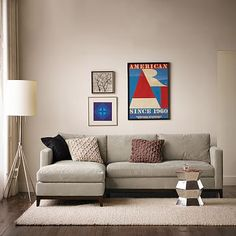 Blake Down-Filled 2-Piece Chaise Sectional #westelm