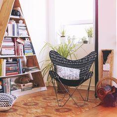 Triangle book shelf!