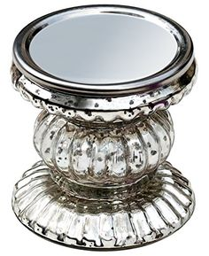 Silver Candle Holder Today Best Deals Amazing Decorations Souvnear Handmade Festive Ribbed Glass