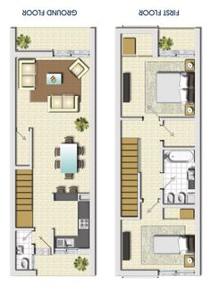 900 Sq Ft Home Lovely Mountain View Floor Plans Narrow House Plans, Small House Floor Plans, Duplex House Plans, Apartment Floor Plans, House Front Design, Small House Design, Modern House Design, House Construction Plan, Container House Plans