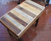 """Large Rustic Reclaimed Wood Coffee Table Dining Table or Desk 48"""" x 30"""" x 17"""" high Use Outdoors or Indoors. $290.00, via Etsy."""