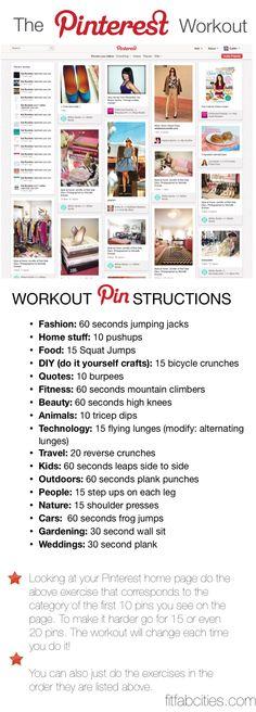 The pinterest workout.