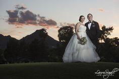 Sunset wedding in Scottsdale, Arizona