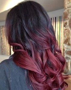 Red Ombre Hair - if I had long hair. Totally love this look on brunette over blonde.
