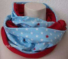 XL Frühling Jersey Damen Loop Scarf Sterne Stars von Stoff-Zaubereien auf DaWanda.com