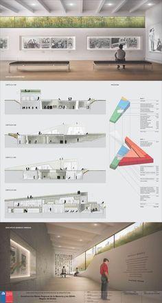 Imagen 6 de 10 de la galería de Conoce el segundo lugar en el concurso del Museo de la Memoria y Derechos Humanos en Concepción, Chile. Lámina 03. Image Cortesía de Equipo Segundo Lugar