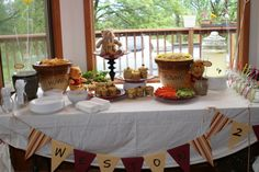the whole table display for the winnie the pooh birthday party