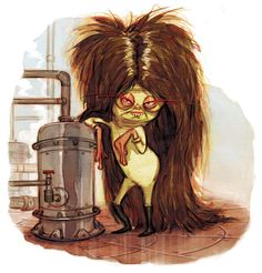 """""""Hekleema, the Hairy Hemloit, liked to hang out next to the hydrogen fuel holding tanks, looking hot.""""  To get updates on this book project, sign up here:  http://eepurl.com/baOYID"""
