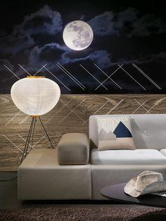 Modra non-woven mural / lavmi