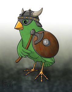 Viking bird - made for a cardgame