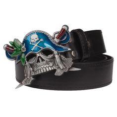 6871f867714 Men s cool belt Caribbean pirate skull belt heavy metal rock style belts  Punk funky street hip