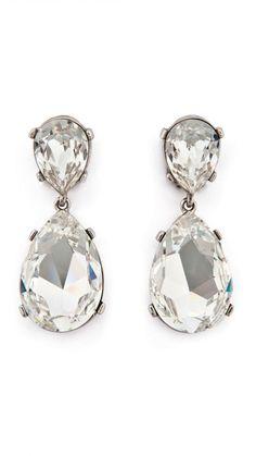 #pendientes lágrima cristal - #Joyas para novia e invitada de #antonheunis  disponibles para su alquiler en dresseos.com