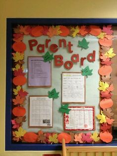 My assistant Gabby did such an amazing fall parent board!
