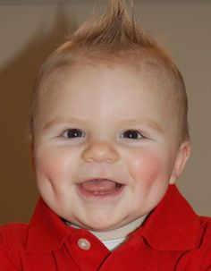 Cute baby with dimples :-)