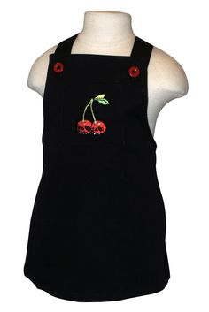 Miso Punk Little Rebel Apparel's Cherry Skulls Overalls skirt...    Punk/Goth inspired baby overall is for the wild-eyed fashionista that is your lil' rockstar princess. Featuring a front pocket with cherry skull embroidery, button closure and crossover straps on back, with allowance for expandability in the front.    http://www.mamasanmaternity.com/misopunk/girls.php