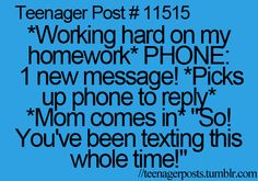 This seriously happens to me ALL THE TIME and then my mom gets so mad and doesn't believe me!
