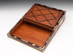 Edwards Kingwood Writing Box | From a unique collection of antique and modern boxes at https://www.1stdibs.com/furniture/more-furniture-collectibles/boxes/