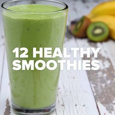 12 Healthy Smoothies // #smoothies #breakfast #fruit #veggies #shakes #Goodful #HealthySmoothies