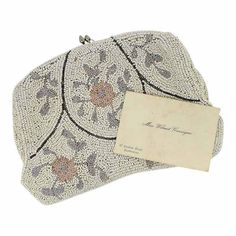 1910s Beaded Vintage Floral Clutch Bag by GemmaRedmondVintage on Etsy