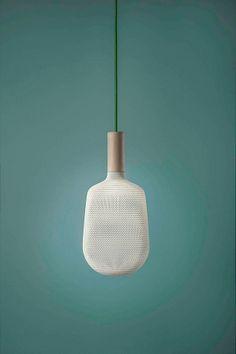 3 ge-3D-printte lampen