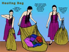 Cameleon - utility use as large bag