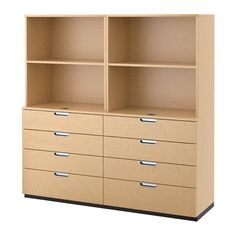Ikea Storage combination with drawers birch veneer 63x63  6202142017106