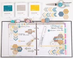 CTMH Everyday Life Planner decorated with Workshops on the Go® Urban Scrapbooking Kit