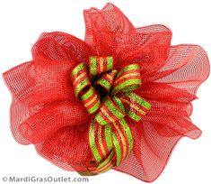 Party Ideas by Mardi Gras Outlet: DIY Christmas Bow Video: Double Bow with Deco Mesh Christmas Flowers, Christmas Bows, Deco Mesh Bows, Burlap Bubble Wreath, Mesh Wreath Tutorial, Flower Making, Making Bows, Christmas Inspiration, Christmas Ideas