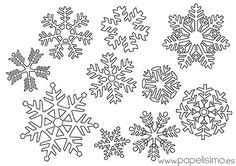 12 ideas con copos de nieve para tus manualidades   Aprender manualidades es facilisimo.com