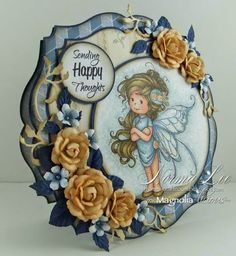 This image is calledSummer FairyfromWee Stampsdesigned by Sylvia Zet. Card by DT member, Norma Lee.
